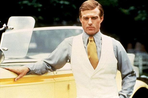 Robert Redford w złotym krawacie