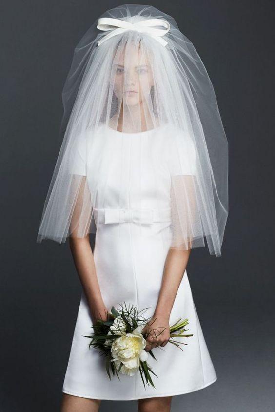 Welon w sukni ślubnej