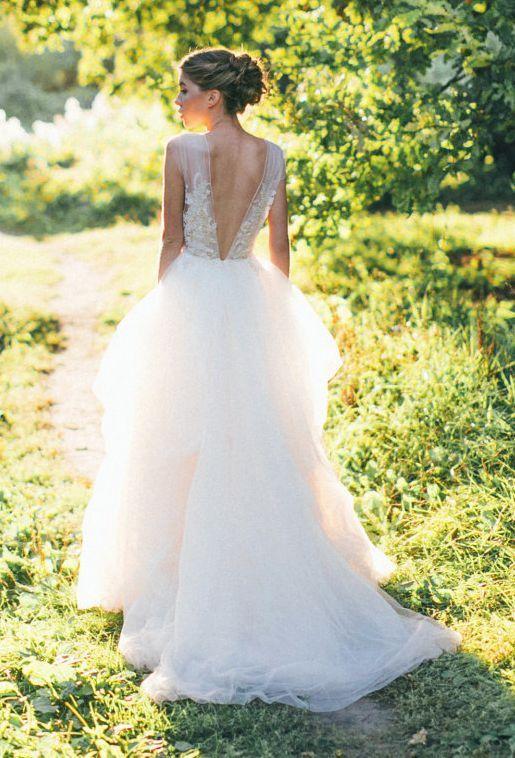Galeria ślubna 20 Cudownych Sukien ślubnych Z Tiulu ślubeopl