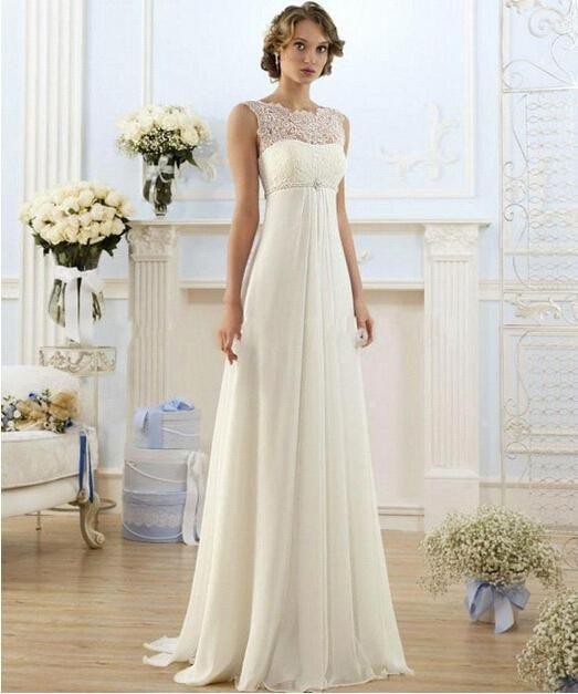 Panna Młoda w sukni ślubnej w stylu empire