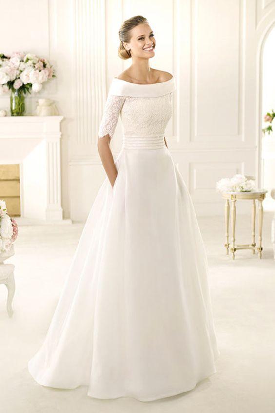 wybór idealnej sukni ślubnej z dekoltem w łódkę