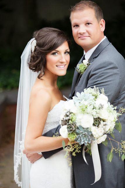 Romantyczne upięcie do ślubu z welonem