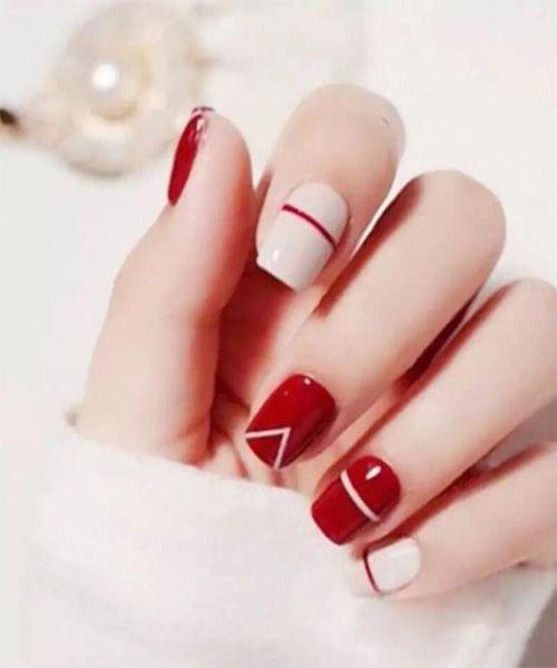 Czerwone paznokcie do ślubu