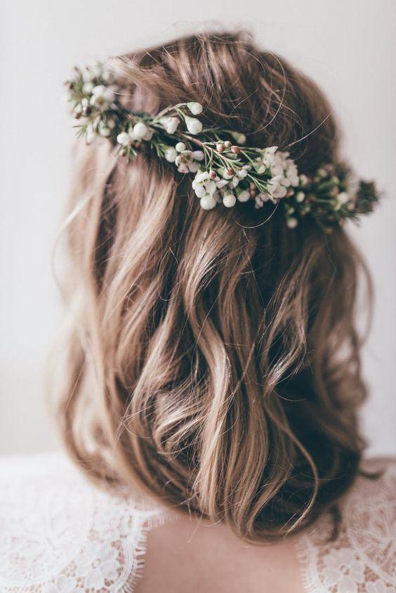 10 Pomysłów Na Fryzurę ślubną Z średnich Włosów ślubeopl