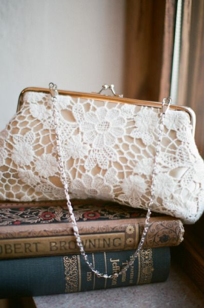 Koronkowa torebka na ślub