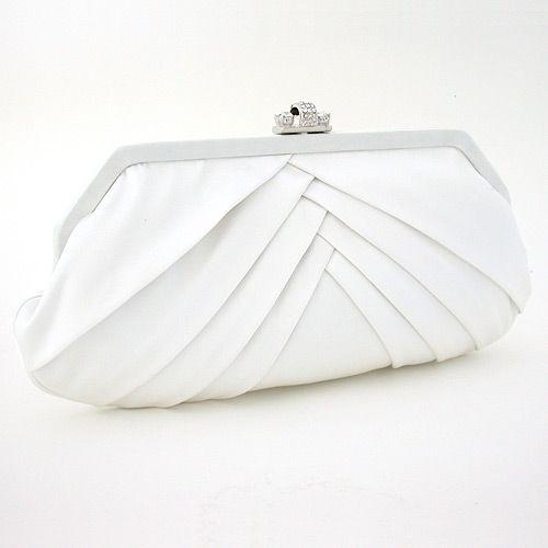 Biała kopertówka do ślubu