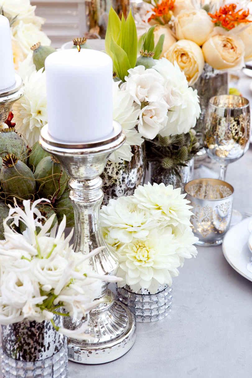 Dekoracje na stole weselnym