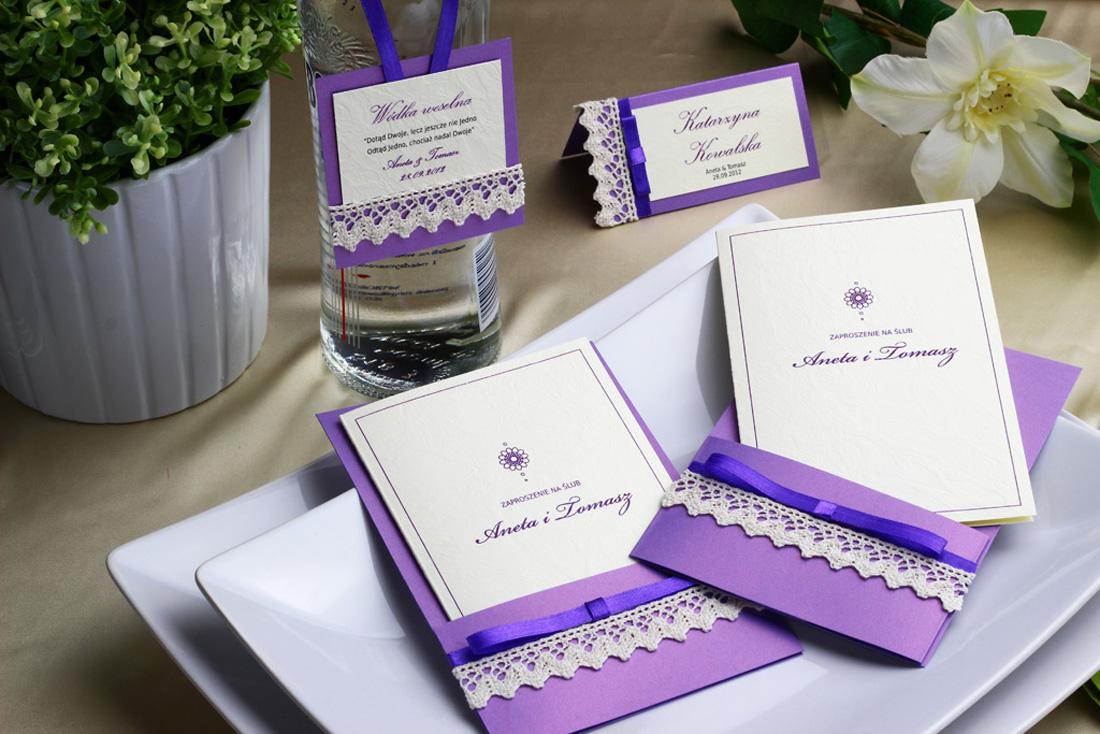 Nadzwyczajki.pl - zestaw papeterii ślubnej