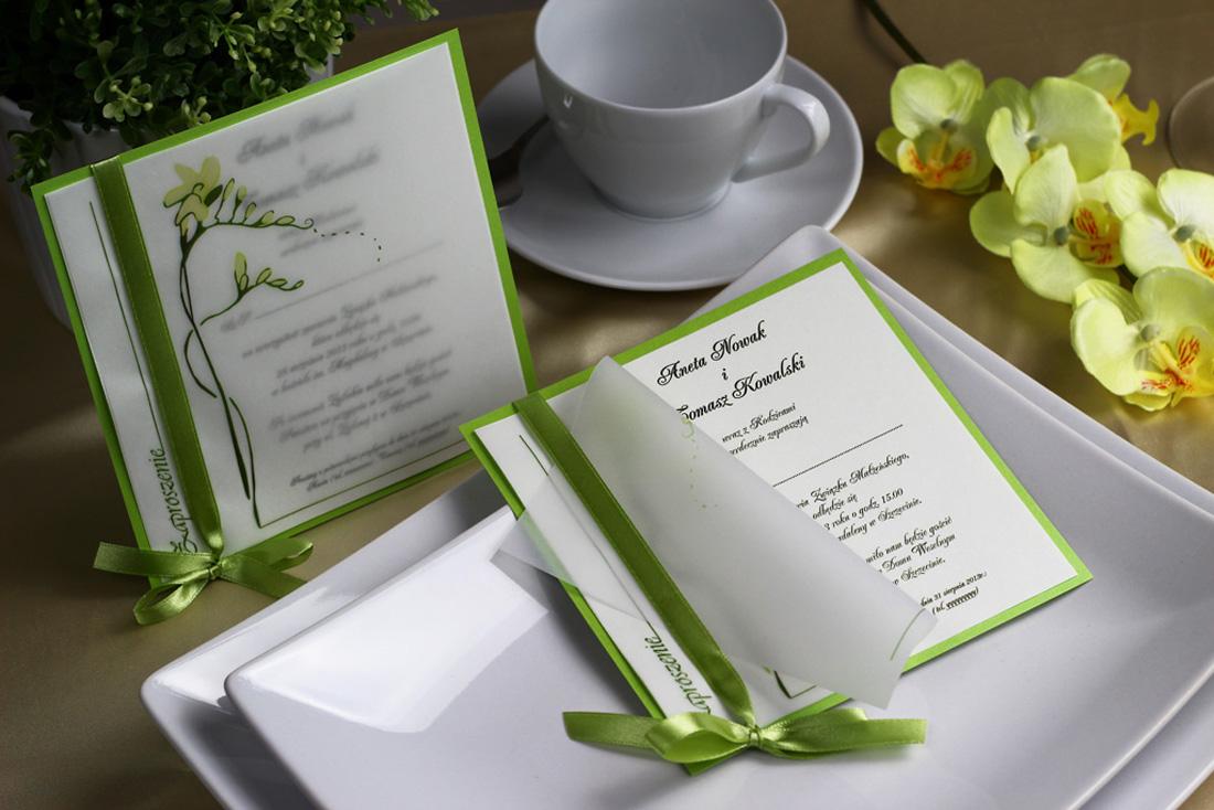 Nadzwyczajki.pl - zaproszenie ślubne z frezją