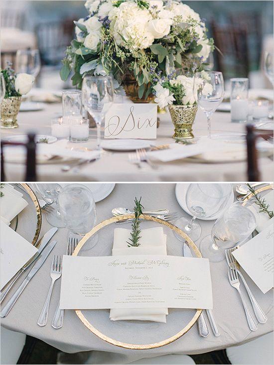 dekoracja stołu weselnego ze złotymi akcentami