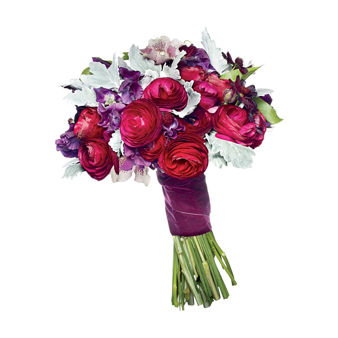 elegancka wiązanka kwiatowa z irysami na ślub