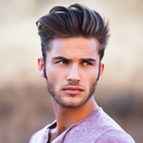 fryzura dla pana młodego z gęstych uniesionych do góry włosów