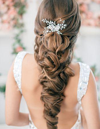 fryzura ślubna z długich włosów