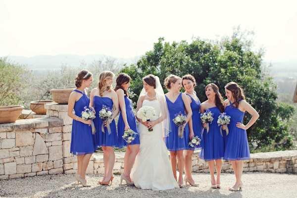 granatowe sukienki druhen