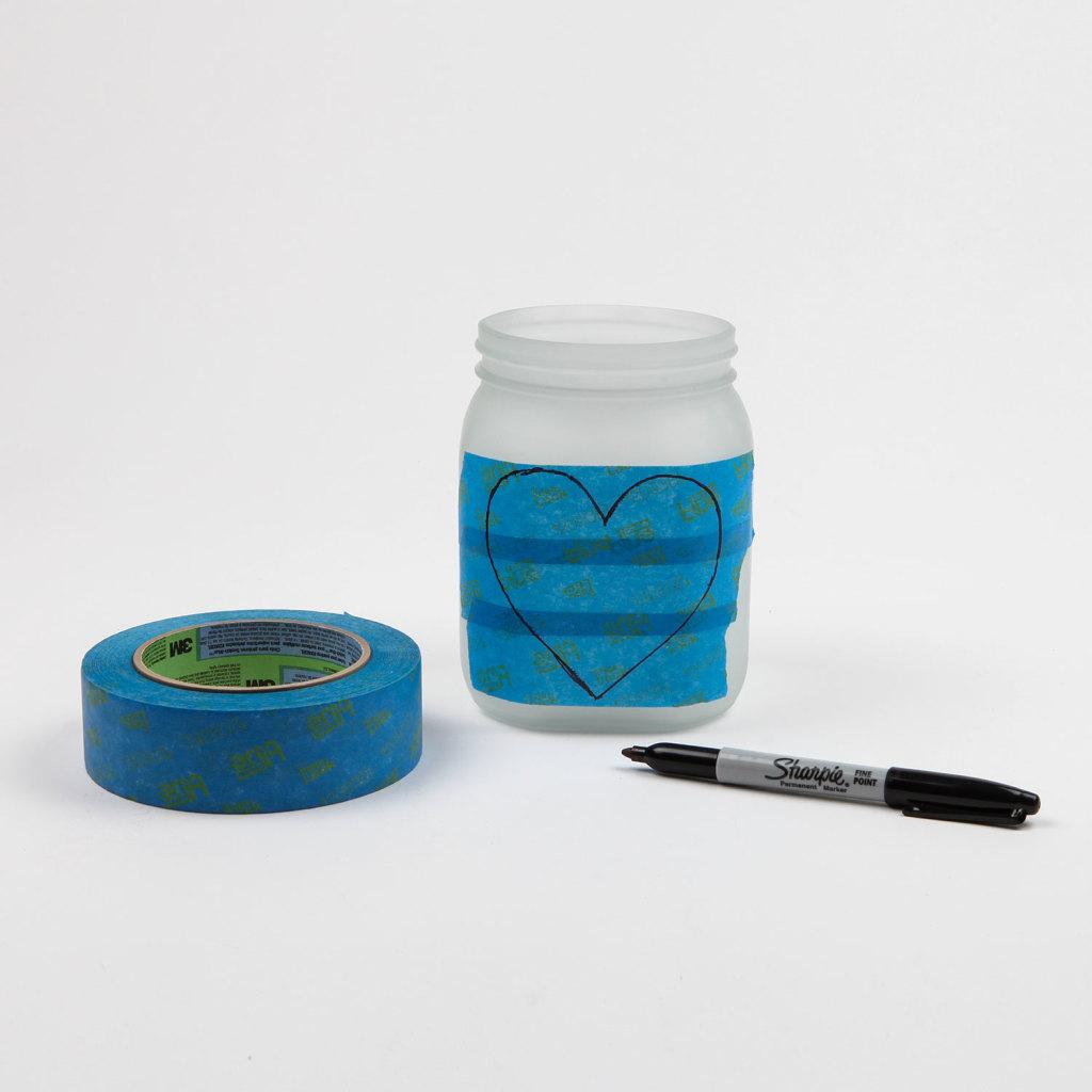 świecznik DIY - krok 1