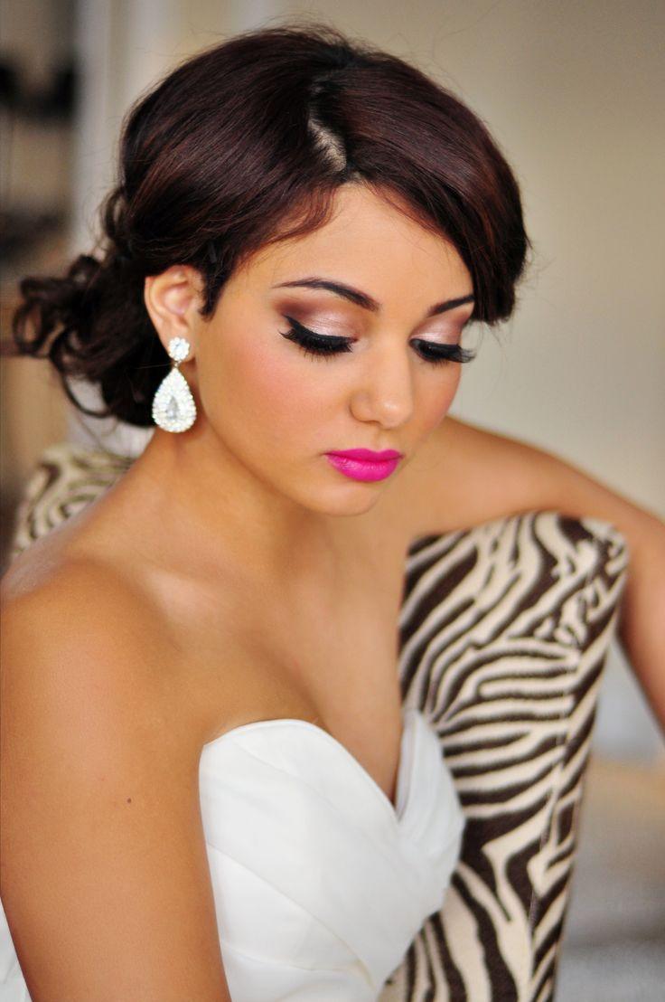 kolorowy makijaż panny młodej