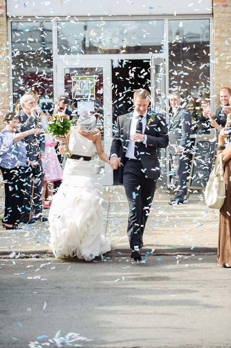 konfetti na ślubie