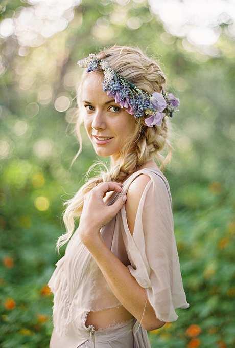kwiatowa korona dla panny młodej