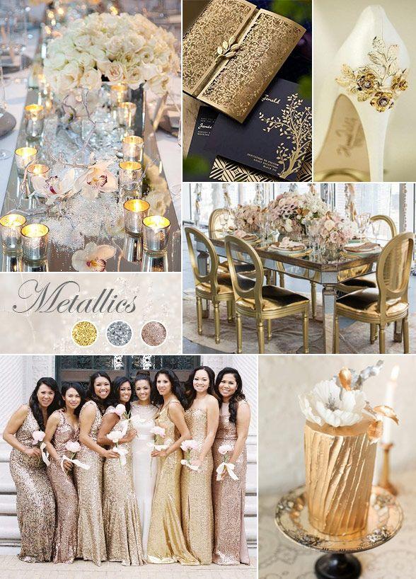 metaliczne kolory przewodnie ślubu