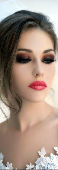 mocny makijaż ślubny