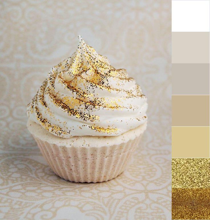 paleta barw w złocie i szarości