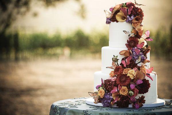 jesienny tort weselny