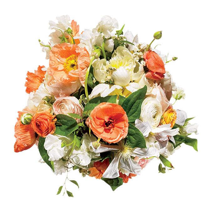 romantyczna aranżacja kwiatowa z pachnącym groszkiem