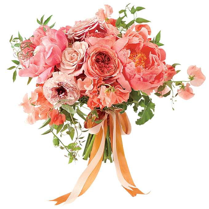 romantyczny bukiet ślubny z goździkami