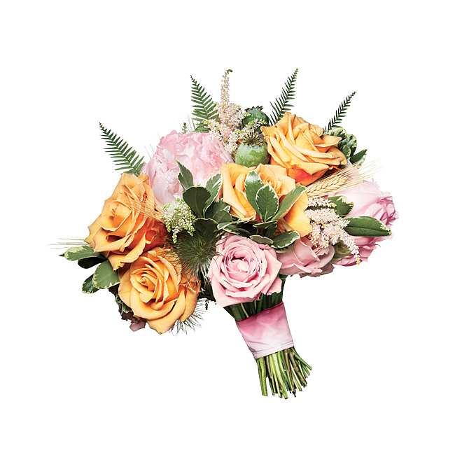 romantyczny bukiet z różami