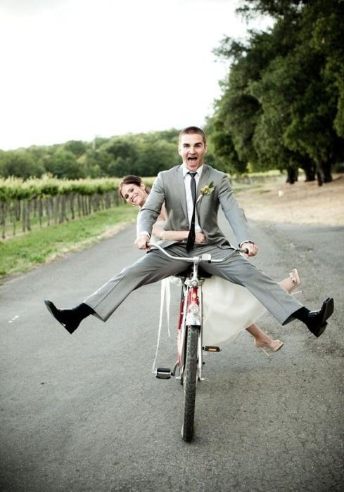 jazda rowerem do ślubu