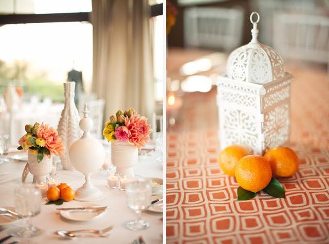 sala weselna w kolorze pomarańczowym
