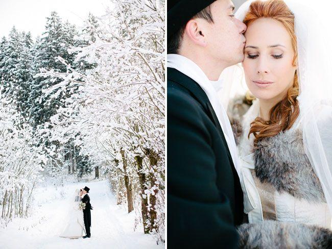 sesja ślubna zimowa