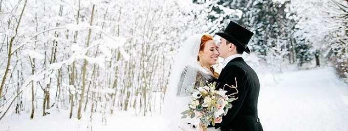 ślub Zimą Zalety Uroczystości ślubnej W śnieżnej Oprawie