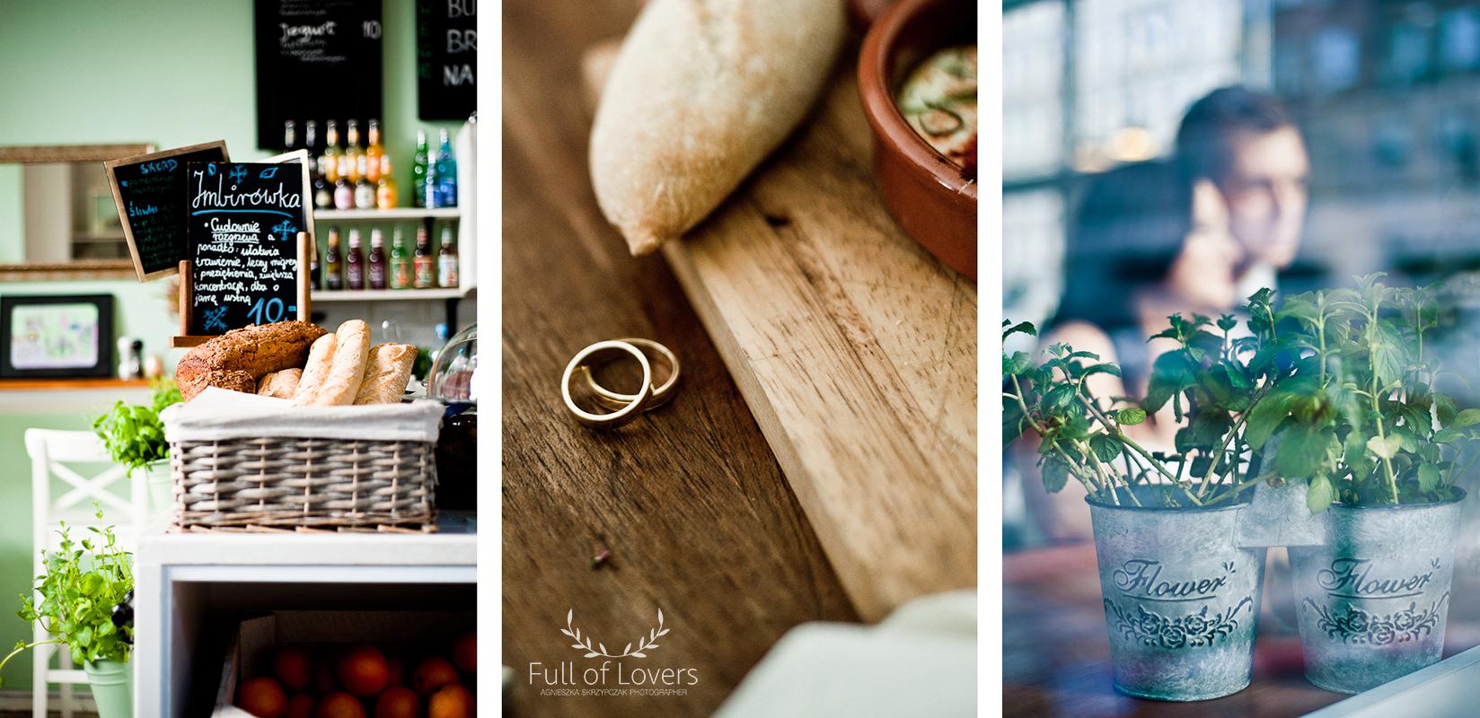 Sesja ślubna w kawiarni