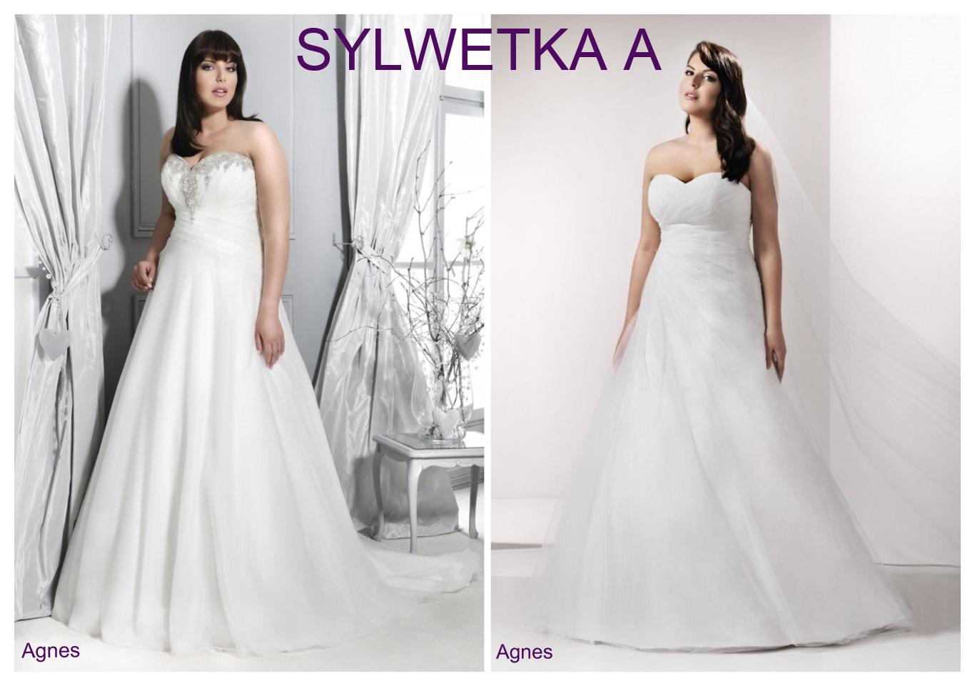 Suknie ślubne plus size dla sylwetki A