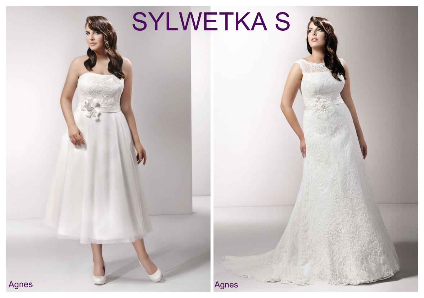 Suknie ślubne plus size dla sylwetki S