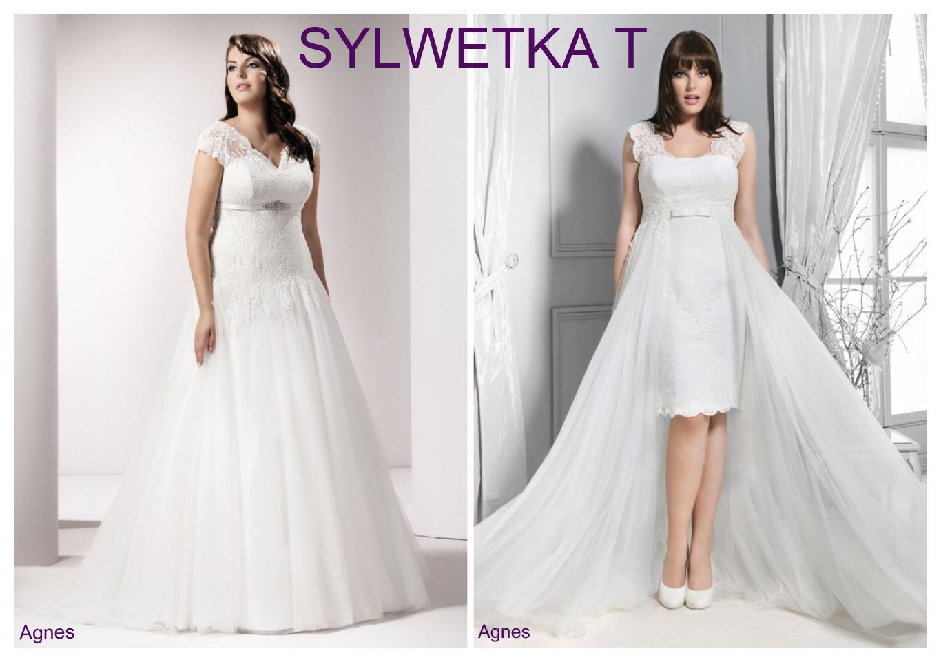Suknie ślubne plus size dla sylwetki T