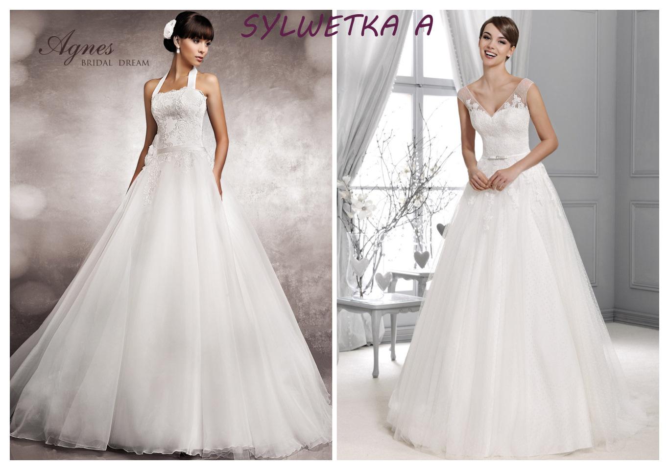 Suknia ślubna dla figury A
