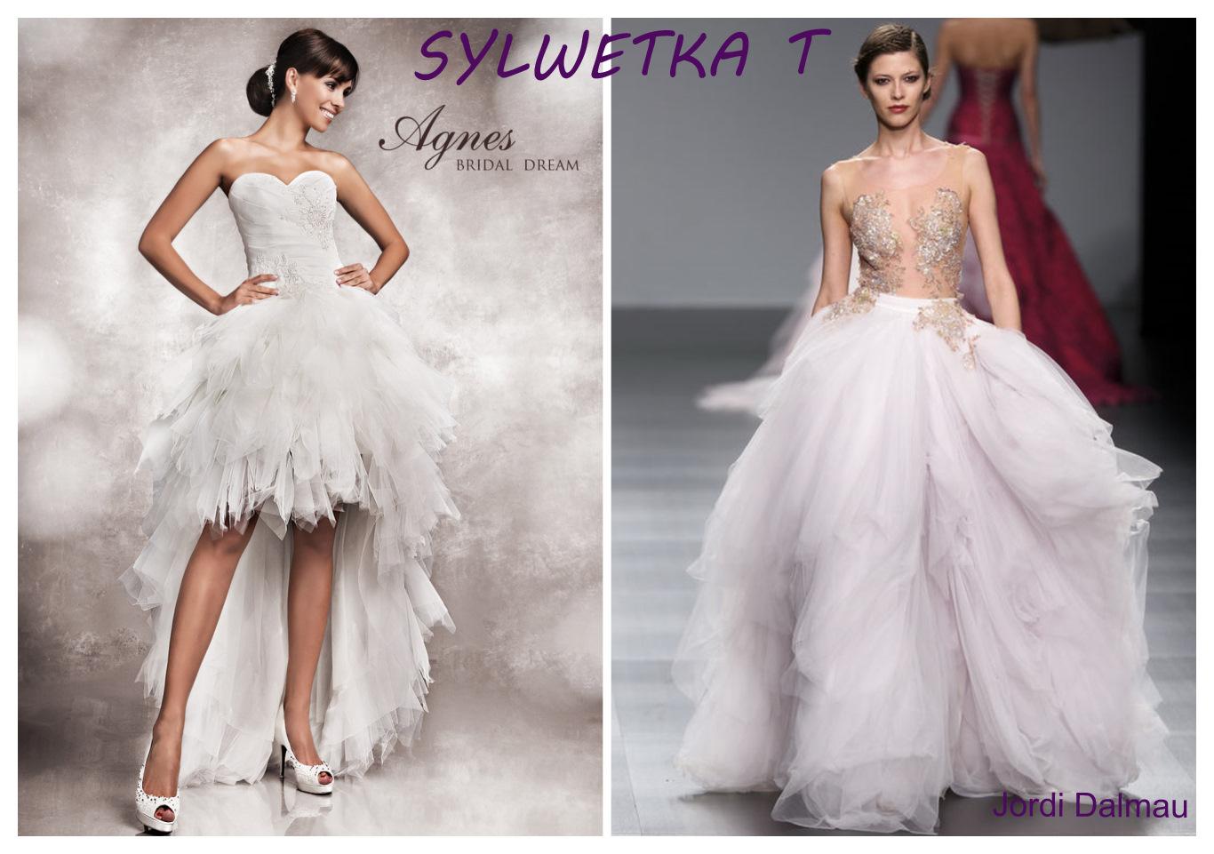 Suknia ślubna dla figury T