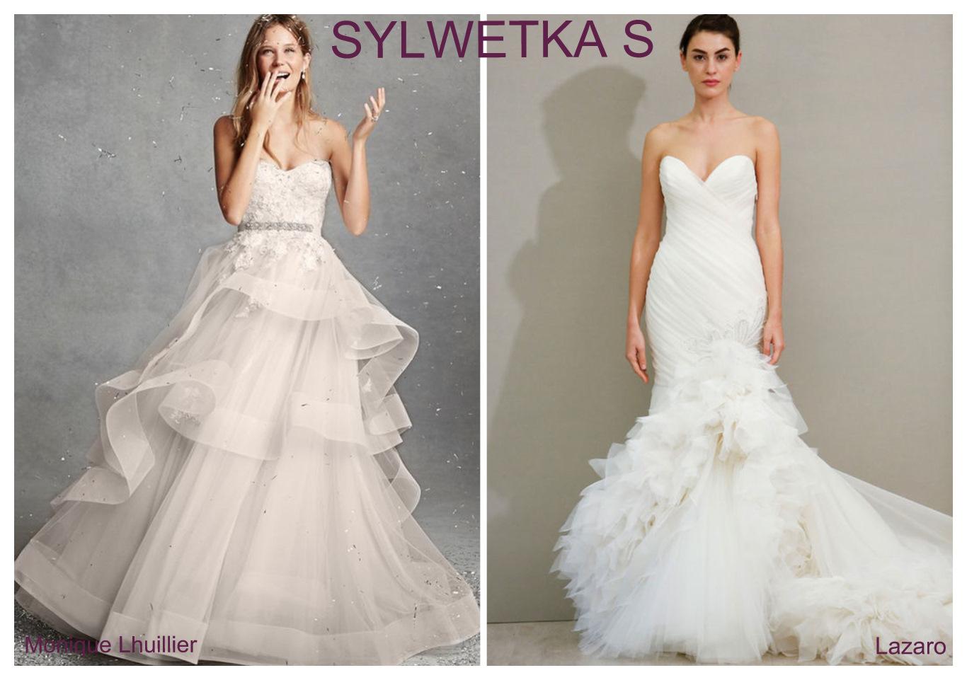 Suknia ślubna dla figury S