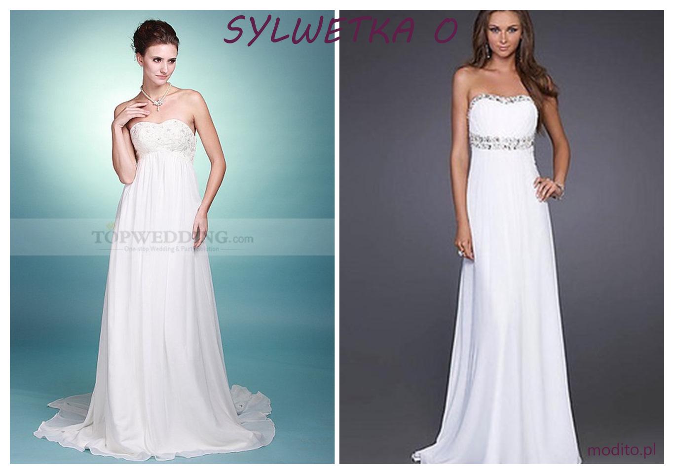 Suknia ślubna dla figury O