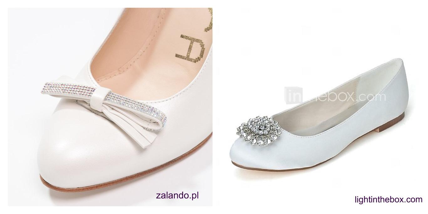 Buty ślubne o zaokrąglonych czubkach