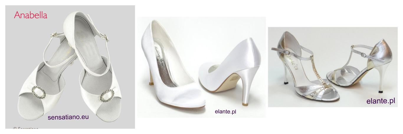 Buty ślubne z zaokrąglonymi czubkami