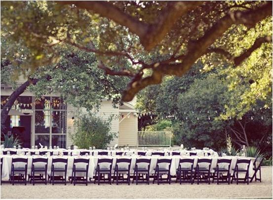 stół weselny w plenerze