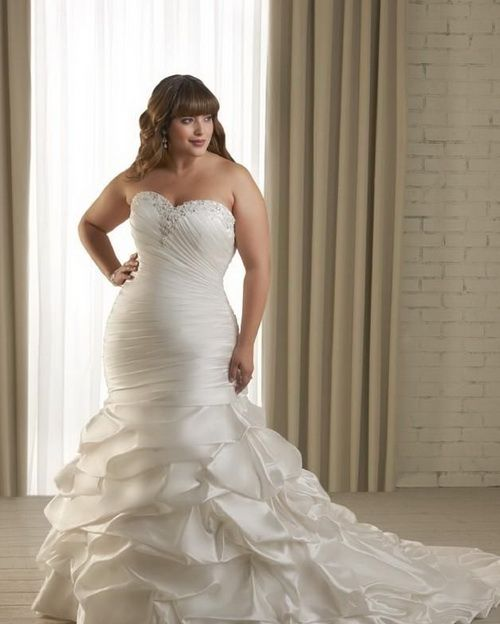 suknia ślubna XL z dekoltem w serce