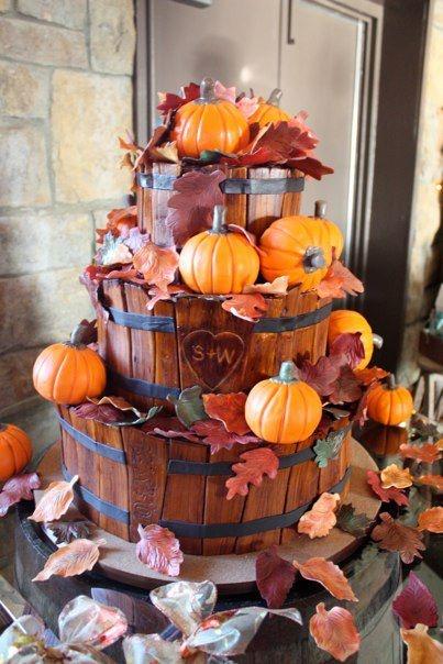 tort weselny inspirowany jesienią