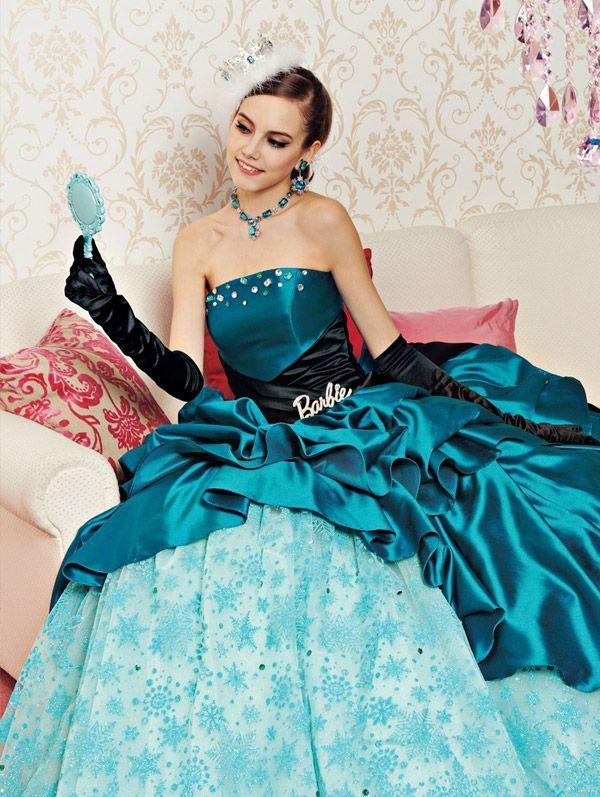 turkusowa suknia ślubna