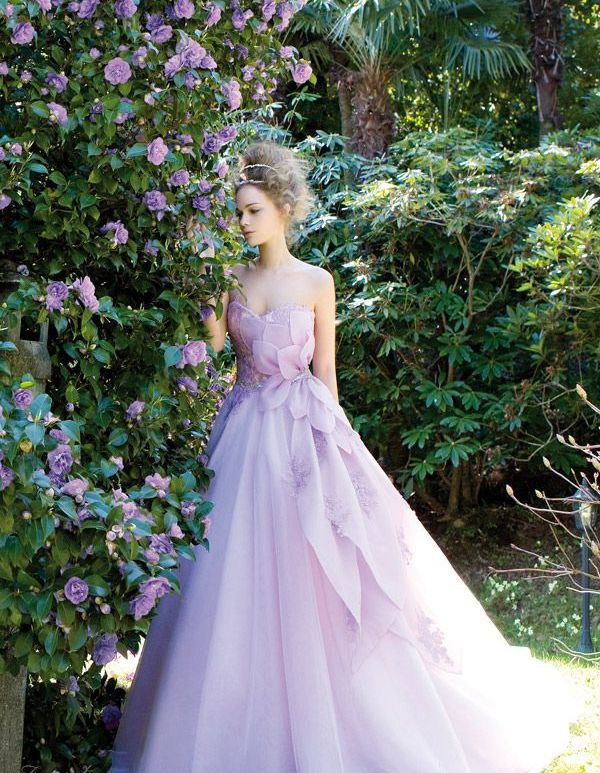 wrzosowa suknia ślubna