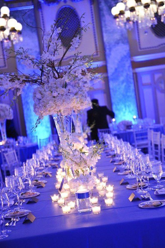 zimowa dekoracja stołu weselnego