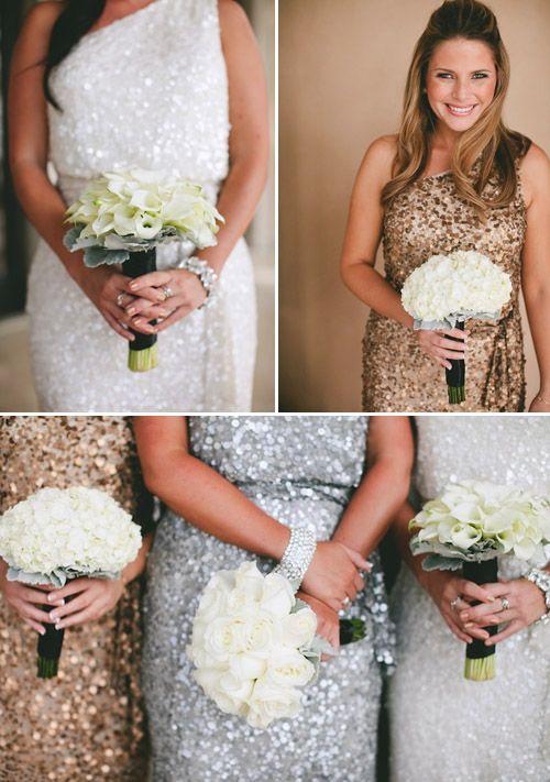 złote i srebrne sukienki na wesele